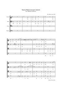 Sancta Maria succurre miseris : Complete... by Victoria, Tomás Luis de