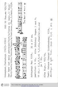 Der Herr ist mein getreuer Hirt, GWV 114... Volume GWV 1140/24 by Graupner, Christoph