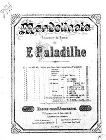 La Mandolinata (Fantaisie) : Complete Sc... Volume Op.161 by Kuhe, Wilhelm
