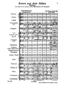 Rosen aus dem Süden, Op.388 : Complete O... Volume Op.388 by Strauss Jr., Johann