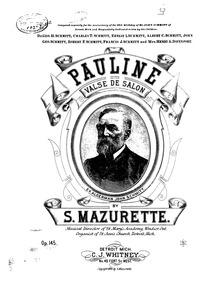 Pauline (Valse de salon) : Complete Scor... Volume Op.145 by Mazurette, Salomon
