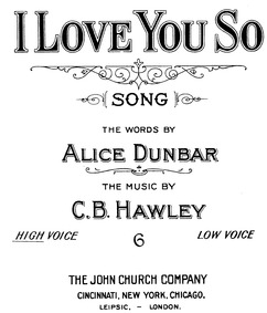 I Love You So : Complete Score by Hawley, Charles Beach
