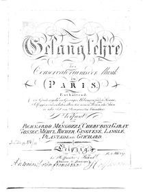 Gesangslehre : Complete Book by Mengozzi, Bernardo
