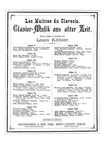 Les maitres du clavecin (Clavier-musik a... by Köhler, Louis