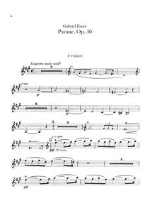 Pavane, Op.50 : Violins I, II Volume Op.50 by Fauré, Gabriel