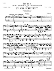Rondo in A major, D.951 : Complete score Volume D.951 - Op.107 by Schubert, Franz