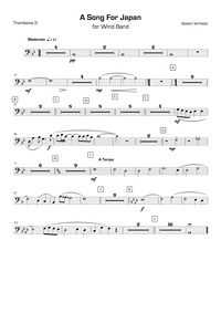 A Song for Japan : Trombone 2 by Verhelst, Steven