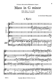 Mass in G minor : Complete Score by Vaughan Williams, Ralph