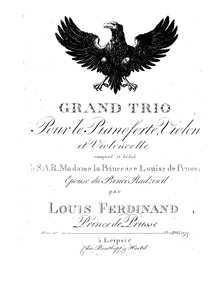 Piano Trio, Op.10 : Piano Part Volume Op.10 by Louis Ferdinand, Prince of Prussia