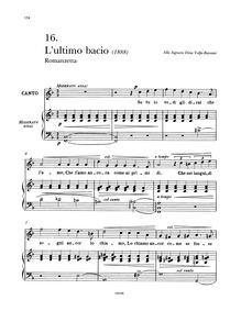 L'ultimo bacio : Complete Score by Tosti, Francesco Paolo