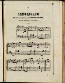 Cendrillon (Schottisch originale) : Comp... by Schubert, Camille
