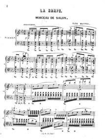 La harpe (Morceau de salon) : Complete s... by Mattei, Tito