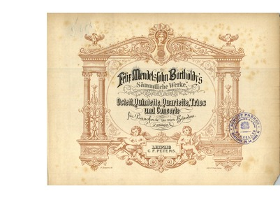 String Quartet No.3, Op.44 No.1 : Comple... Volume Op.44 No.1 by Mendelssohn, Felix
