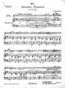 12 Miniatures12 Morceaux : Piano score Volume Op.20 by Cui, César