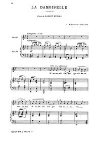 La damoiselle : For low voice by Chaminade, Cécile