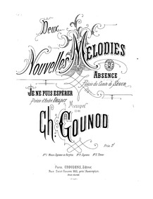 Absence : Complete Score (D minor) by Gounod, Charles