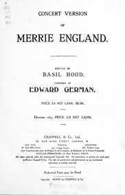 Merrie England (Operetta in Two Acts) : ... by German, Edward