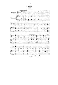 Trost : Complete Score by Sucher, Josef