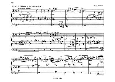 Phantasie en miniature : Complete score by Burger, Max