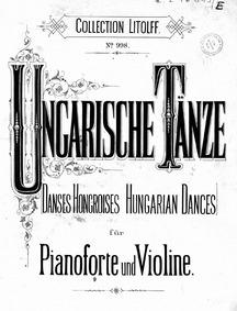 Ungarische Tänze : Piano score by Behr, Franz