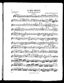 La Jolie Coquette (Première fantaisie mi... Volume Op.6 by Mollenhauer, Eduard