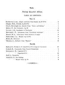 String Quartet Album : Viola by Gruenberg, Eugene
