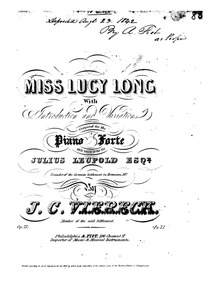 Miss Lucy Long (Introduction and Variati... Volume Op.75 by Viereck, John Conrad