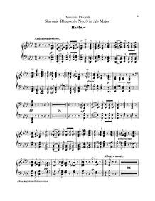Slavonic Rhapsodies (Slovanské rapsodie)... Volume Op.45 ; B.86 by Dvořák, Antonín