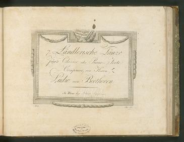 7 Ländler, WoO 11 : Piano Score Volume WoO 11 by Beethoven, Ludwig van