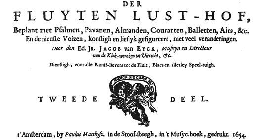 Der Fluyten Lust-Hof (Der Fluyten Lust-H... by Eyck, Jacob van