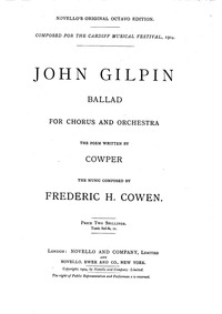 John Gilpin : Title and preliminaries by Cowen, Frederic Hymen