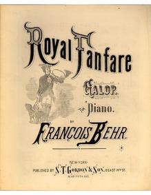 Royal Fanfare Galop (Royal-Fanfare. Galo... Volume Op.408 by Behr, Franz