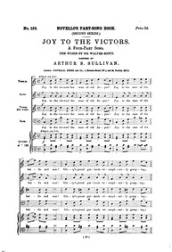 Joy to the Victors : Complete score by Sullivan, Arthur
