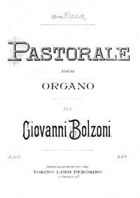 Pastorale (Pastorale per organo) : Compl... by Bolzoni, Giovanni