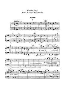 Valses nobles et sentimentales : Bassoon... Volume M.61 by Ravel, Maurice