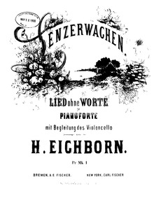 Lenzerwachen, Op.4 : piano score and cel... Volume Op.4 by Eichborn, Hermann Ludwig