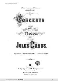 Violin Concerto : Violin Part by Konyus, Yuly
