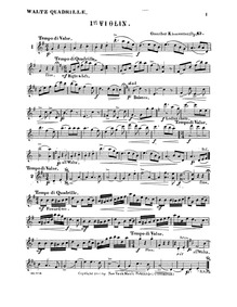 Waltz Quadrilles, Op.63 : Incomplete Par... Volume Op.63 by Kiesewetter, Guenther