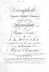 Harp Concerto No.6, Op.9 (Sixieme Concer... Volume Op.9 by Krumpholz, Jean-Baptiste