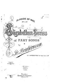 In Pride of May (Part Song) : Complete S... by Sveinbjörnsson, Sveinbjörn