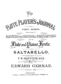 Saltarello : Piano score by German, Edward