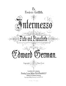 Intermezzo for Flute and Piano : Complet... by German, Edward