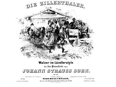 Die Zillerthaler Walzer im Ländlerstil, ... Volume Op.30 by Strauss Jr., Johann