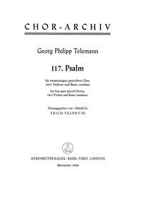 Psalm 117, TWV 7:25 (Laudate Jehovam omn... Volume TWV 7:25 by Telemann, Georg Philipp