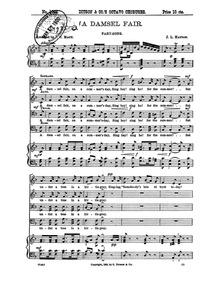A Damsel Fair : Complete Score by Hatton, John Liptrot