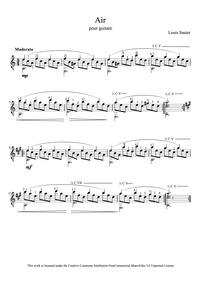 Air : Complete Score by Sauter, Louis