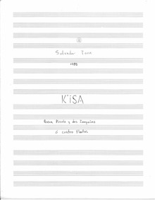 Kisa (K'isa for 4 flutes or 2 zamponias,... by Torre, Salvador