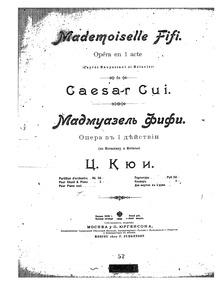 Mademoiselle Fifi (Мадмуазель Фифи ; Жен... by Cui, César