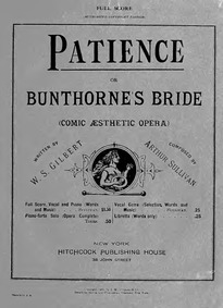 Patience, or Bunthorne's Bride (Comic Ae... by Sullivan, Arthur