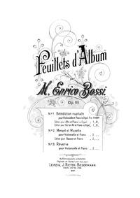 Feuillets d'album, Op.111 : 1. Bénédicti... Volume Op.111 by Bossi, Marco Enrico
